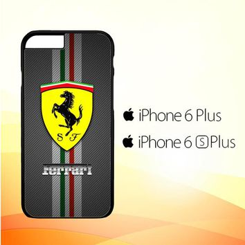 Texture Ferrari Black O0625 iPhone 6 Plus|6S Plus Case