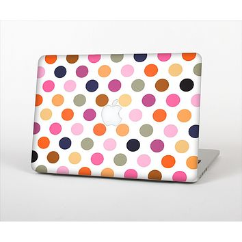 The Solid Pink & Blue Colored Polka Dots Skin Set for the Apple MacBook Pro 13""