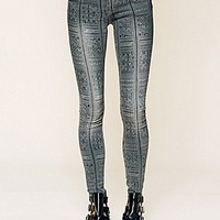 Free People  Isla Printed Skinny Jeans at Free People Clothing Boutique