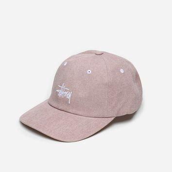 Stussy Washed Stock Low Pro Cap 232185 18981 | Dusty Pink Hats, beanies & scarfs| Accessories - Naked
