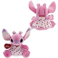 "Licensed cool 14"" PINK ANGEL Valentines Red Hearts Plush Toy Doll Lilo & Stitch Disney Store"