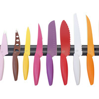 10-Pc Color Knife Set w/ Magnetic Bar, Cutlery Knives