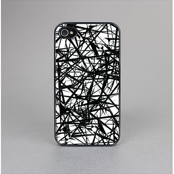 The Black and White Shards Skin-Sert Case for the Apple iPhone 4-4s