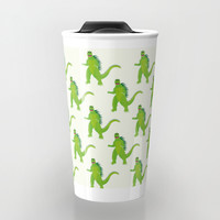 Godzilla pattern Travel Mug by Kathrinmay