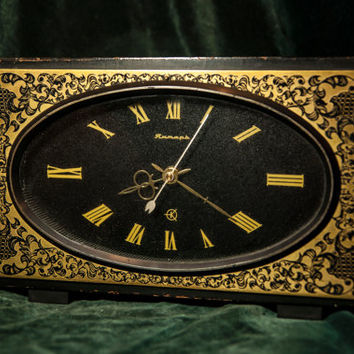 Table clock 1970 Jantar Soviet vintage
