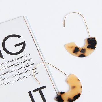 Traveling Abroad Acetate Earrings