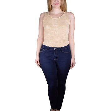 Plus Size Textured Top with Stylish Back