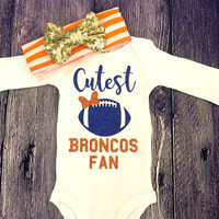 Cutest Football Fan Baby Girl Football Outfit