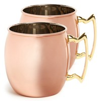 10 Strawberry Street 'Moscow Mule' Copper Mug (2 for $40)