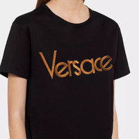 Versace Trending Leisure Women Men Tee Shirt Smiple Style B-A-QDSK-Buy Micro Black