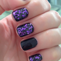 Talk Purple to Me - Purple, Black, Prism, Squares and Hex