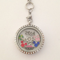 Living floating memory locket large 30mm stainless steel DCL Disney cruise line inspired charms