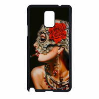 Floral Sugar Skull Cigarettes Samsung Galaxy Note 4 Case