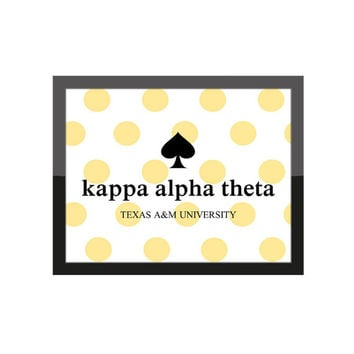 Custom Sorority Print / K. Spade Themed Decor / Big Little Gift / Greek Dorm Room