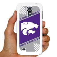 Kansas State University Samsung Galaxy S4 Case - Circles Design 6 - White Protective Hard Case