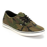 Vans Girls Authentic Lo Pro Olive Camo Print Shoe