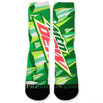 Mountain Dew Custom Athletic Fresh Socks
