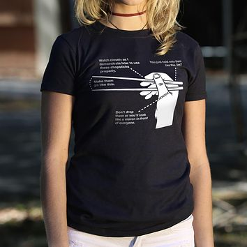 Ladies Chopsticks 101 T-Shirt