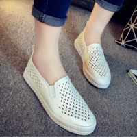 Women Loafer Shoes Simple Casual Hollow Flats Shoes