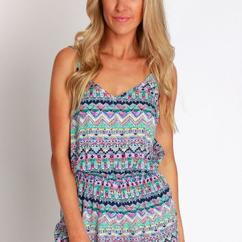Abstract Holidaze Playsuit