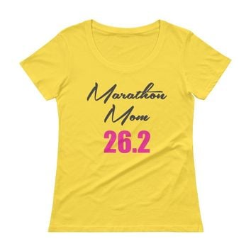 Marathon Mom 26.2 Full Marathon Running t-shirts Top , Women's race t-shirts top
