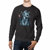Toothless Dragons Fish Cartoon Unisex Sweaters - 54R Sweater