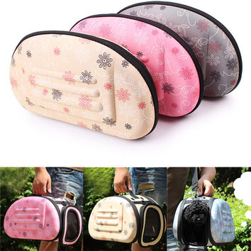 Portable Storage Folding Pet Dog Carrier Bags Small Dog Cat Puppy Pet Travel Tote Shoulder Bag Cage Crate 35*20*20CM