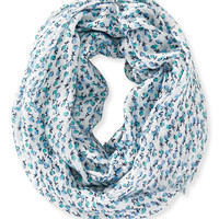 Aeropostale Womens Ditsy Floral Infinity Scarf - Blue, One