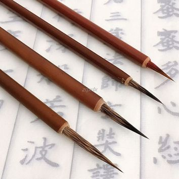 Ink Brush Pen for Chinese Drawing Watercolor Painting Badger Hair Art Craft Gift Brushes Pen brown handle chinese Calligraphy Z1