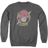 DC/VINTAGE VOLTAGE - ADULT CREWNECK SWEATSHIRT - CHARCOAL -