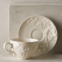 Petal Vines Cup & Saucer by Anthropologie
