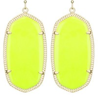 Danielle Earrings in Neon Yellow - Kendra Scott Jewelry