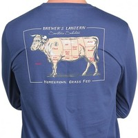 Brewer's Bull Long Sleeve Tee in Ole Blue by Brewer's Lantern