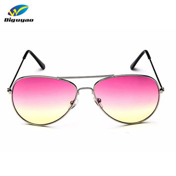 DIGUYAO Classic Fashion men Multi MGradient Sunglasses Women Driveing Mirror  2016 Pilot Sun glasses Points Brand Oculos de sol