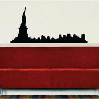 New York City Skyline Statue of Liberty NY Design Decal Sticker Wall Vinyl Decor Art