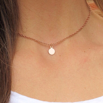 SHOP SALE - Rose Gold Fill Monogram Minimalist Necklace