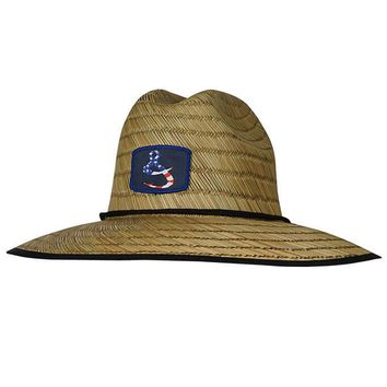 American Lifeguard Stretch Fit Straw Hat
