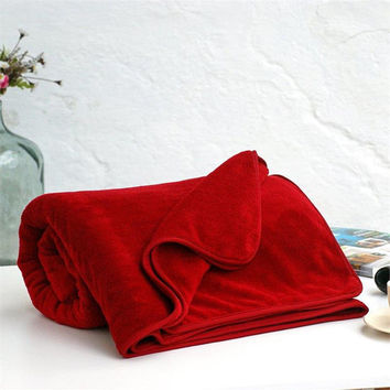 Claret Red blanket,Soft blanket,Twin blanket,Winter blanket,Cozy blanket,Warm blanket,Home decor,Turkish blanket,Claret Red