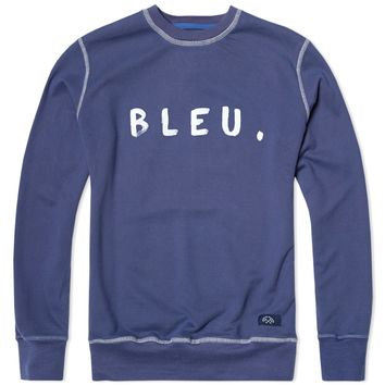 Bleu de Paname Bleu Text Crew Neck Sweat
