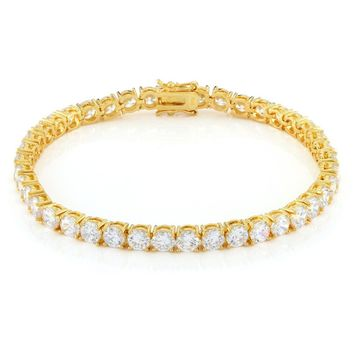 5mm, 14K Gold Single Row Tennis Bracelet