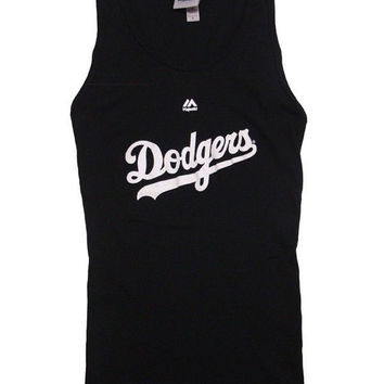 "Dodgers ""Wordmark"" Tank Top - Black"
