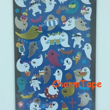 Mindwave Deco art stickers - Cute Ghosts & Zombie 1 Sheets SS427