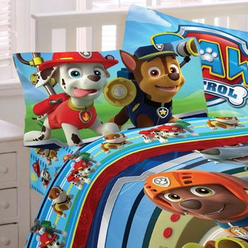 Paw Patrol Bed Sheet Set Puppy Hero Bedding Accessories