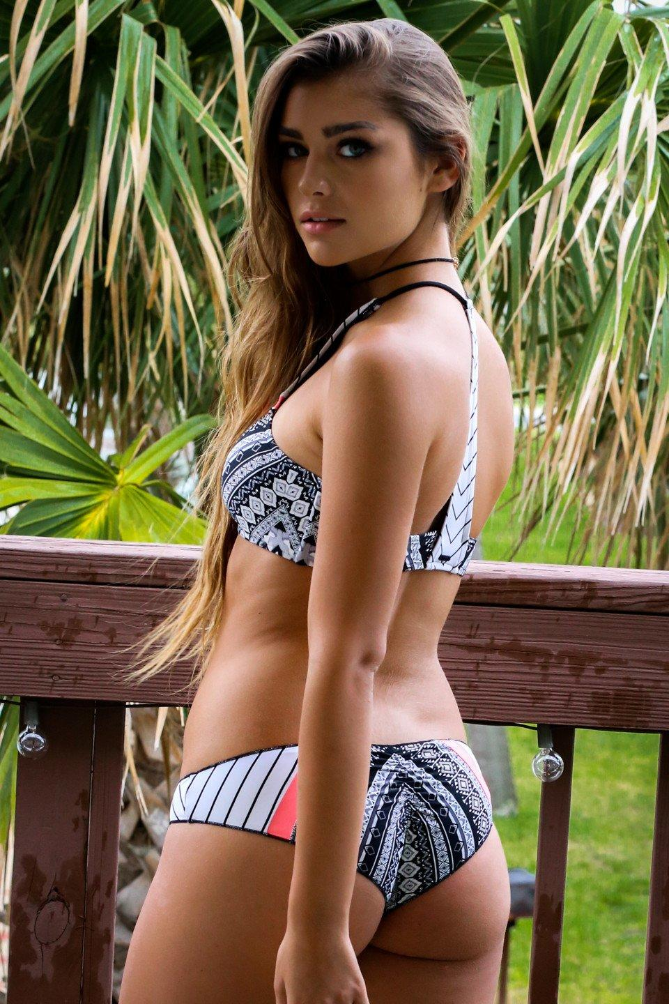 f5eb3095fc6 RIP CURL Surf Tribe Hi Neck Bikini Top from Amazing Lace