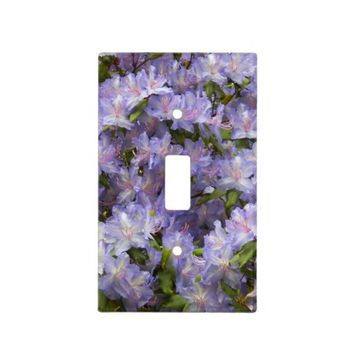 Purple Rhododendron Blossoms Floral Photo Switch Plate Cover