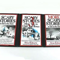 Set Scary Stories to Tell in The Dark by Alvin Schwartz Volume 1 2 and 3 | eBay