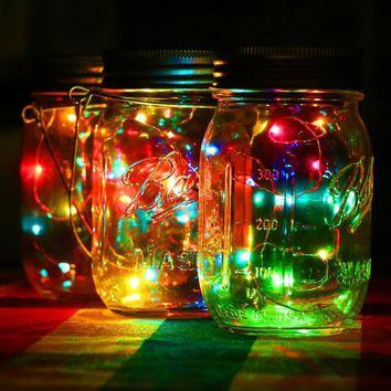 LED Fairy Light Solar Powered For Mason Jar Lid Insert