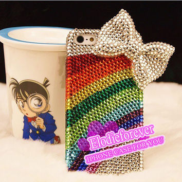 30% OFF! UNIQUE Cute iPhone case, Luxury iPhone 5 case, Rainbow iPhone 5 Case, Colorful Sunshine iPhone 5 Case, Bow iPhone Case