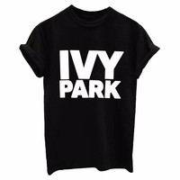 IVY PARK Women'S Letters Printed Round Neck Short-Sleeved T-Shirt