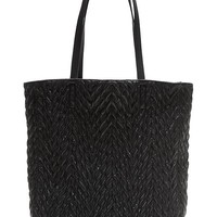 Banana Republic Quilted Tote Size One Size - Black